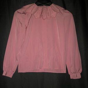 🌻 vintage collar sleeve blouse shirt top